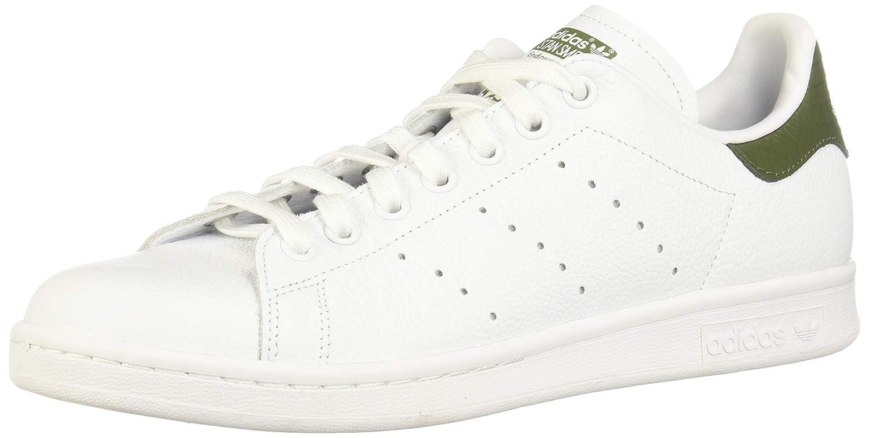 White (Footwear White Footwear White Base Green 0) adidas Men's Stan Smith Low-Top Sneakers