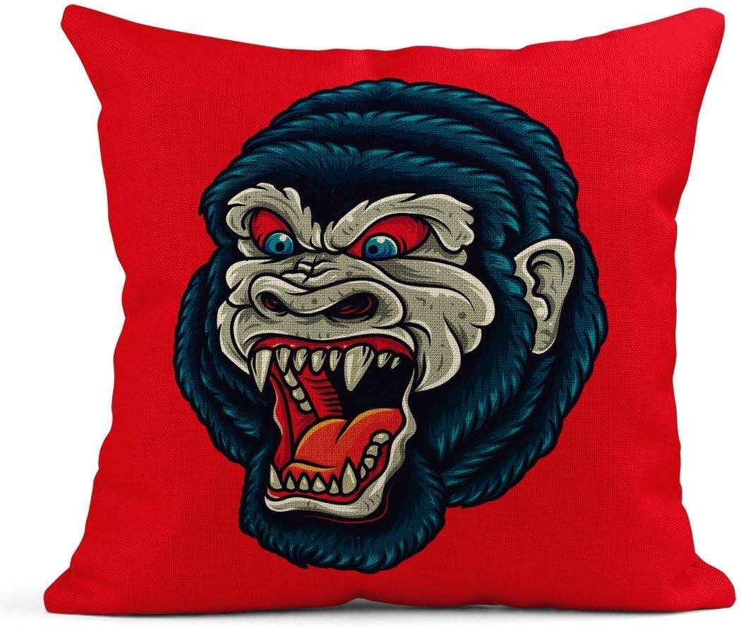 Cojín Tradicional Vintage Gorila King Kong Head Old School Tattoo ...