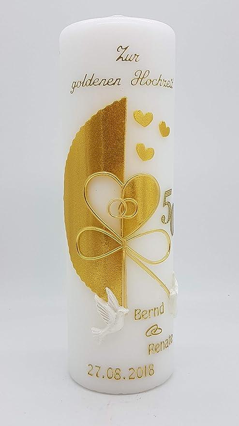 Kerze Goldene Hochzeit Mit Namen Datum Gh 21