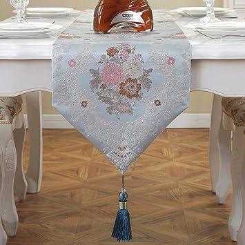 Aoligei Tischläufer, Wohnzimmer Tischdecke Tisch Tuch Tischdekoration Gabe  33 * 210cm Esszimmer, Wohnzimme,