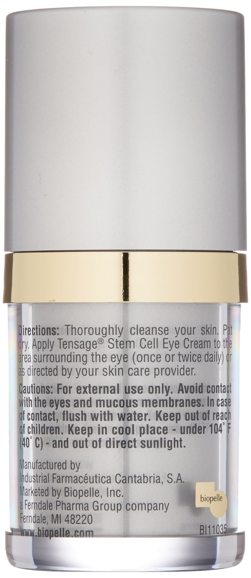 Biopelle Tensage Stem Cell Anti Wrinkle Cream for Eyes by biopelle (Image #5)