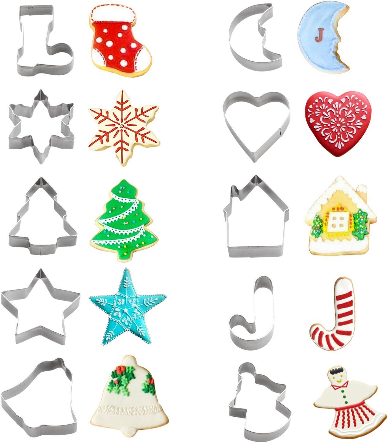 Cookie Cutter Molds Earrings Cookies Christmas Tree Heart Baking