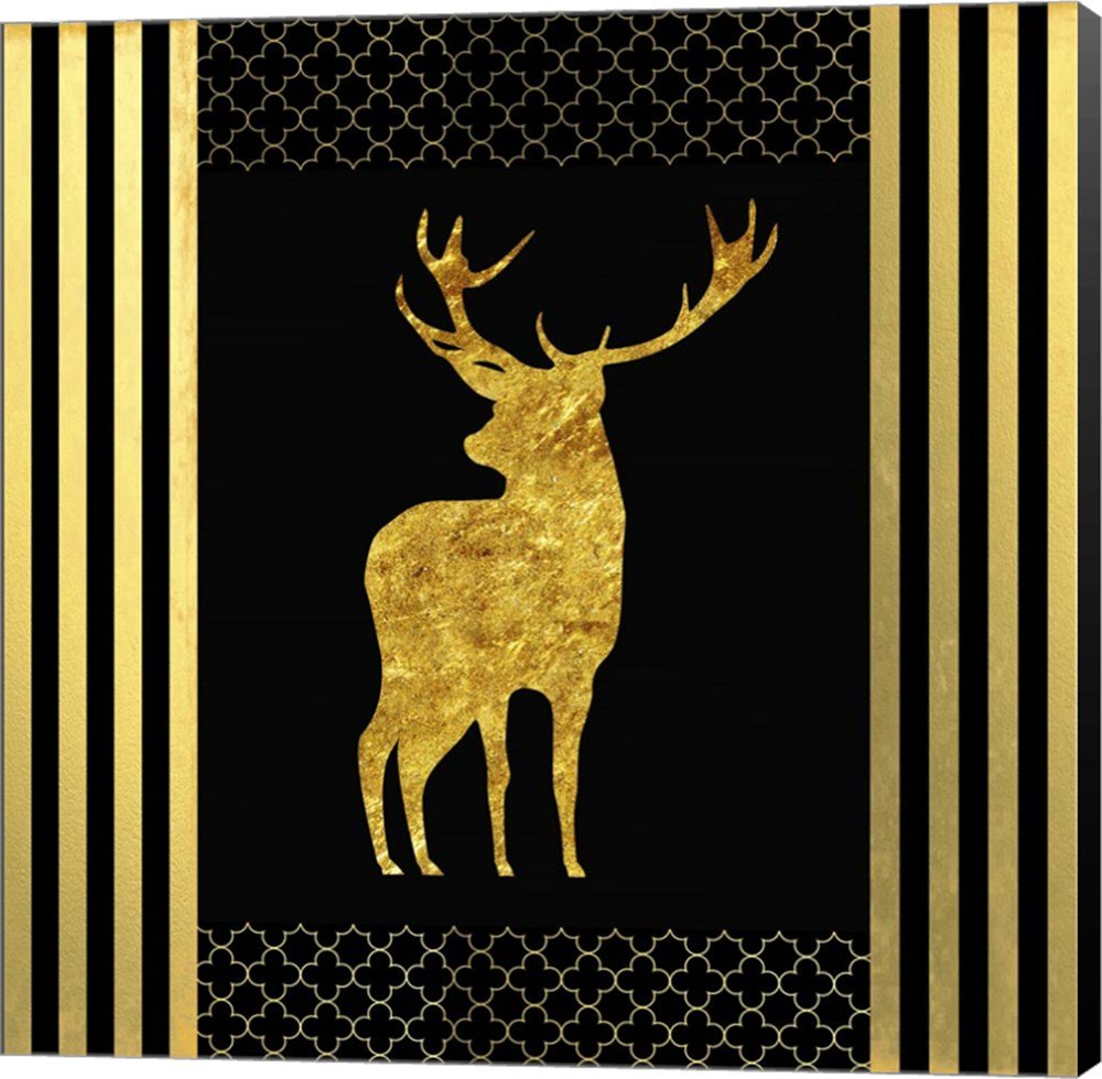 Amazon.com: Black & Gold - Feathered Fashion Stag by LightBoxJournal ...