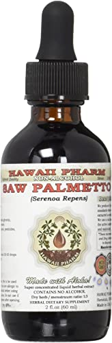 Saw Palmetto Alcohol-Free Liquid Extract, Organic Saw Palmetto Serenoa Repens Dried Berry Glycerite 2 oz