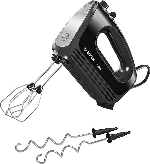 Bosch MFQ2420B - Batidora (Batidora de mano, Negro, Plata, De plástico, 400 W): Amazon.es: Hogar