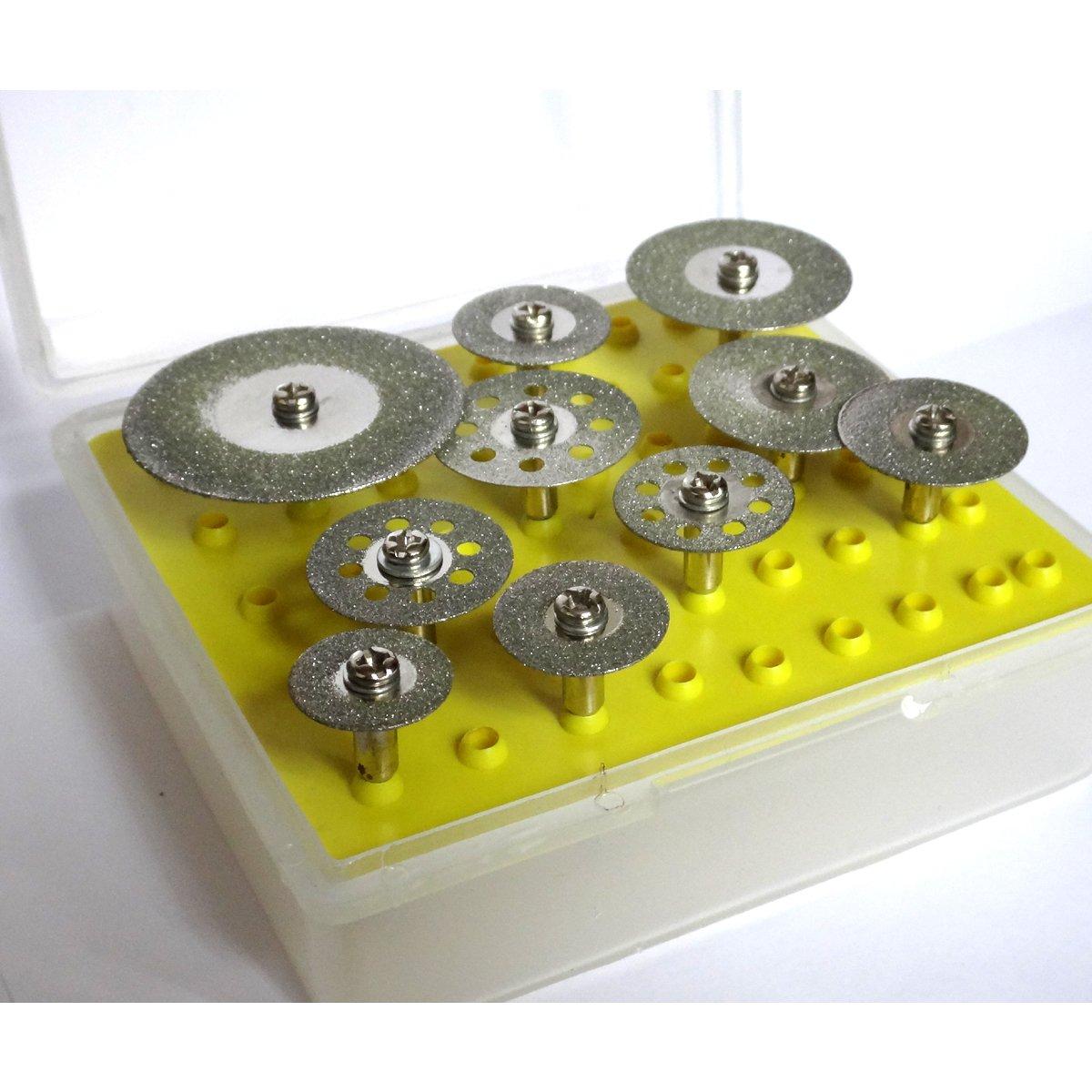 Scie à revêtement diamanté Lot de 10 disques à tronçonner de lames pour outil rotatif pour meuleuse YihaoEL