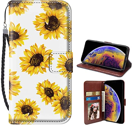 Sunflower Leather Cellphone Case