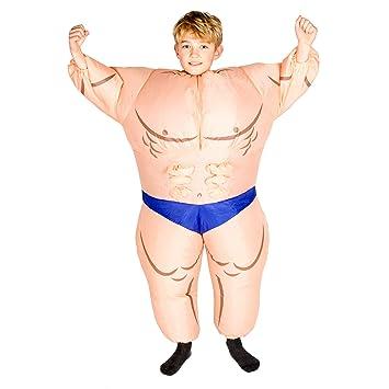 Bodysocks® Disfraz Hinchable de Hombre Musculoso Niño: Amazon.es ...