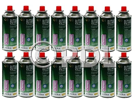 16 x cartucho de Gas butano Gas botellas latas calentador estufa Camping