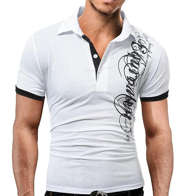 Polos Hombre Manga Corta Camisetas Hombre Manga Corta AIMEE7 Camisetas Casual Hombre Camisetas De Hombre De