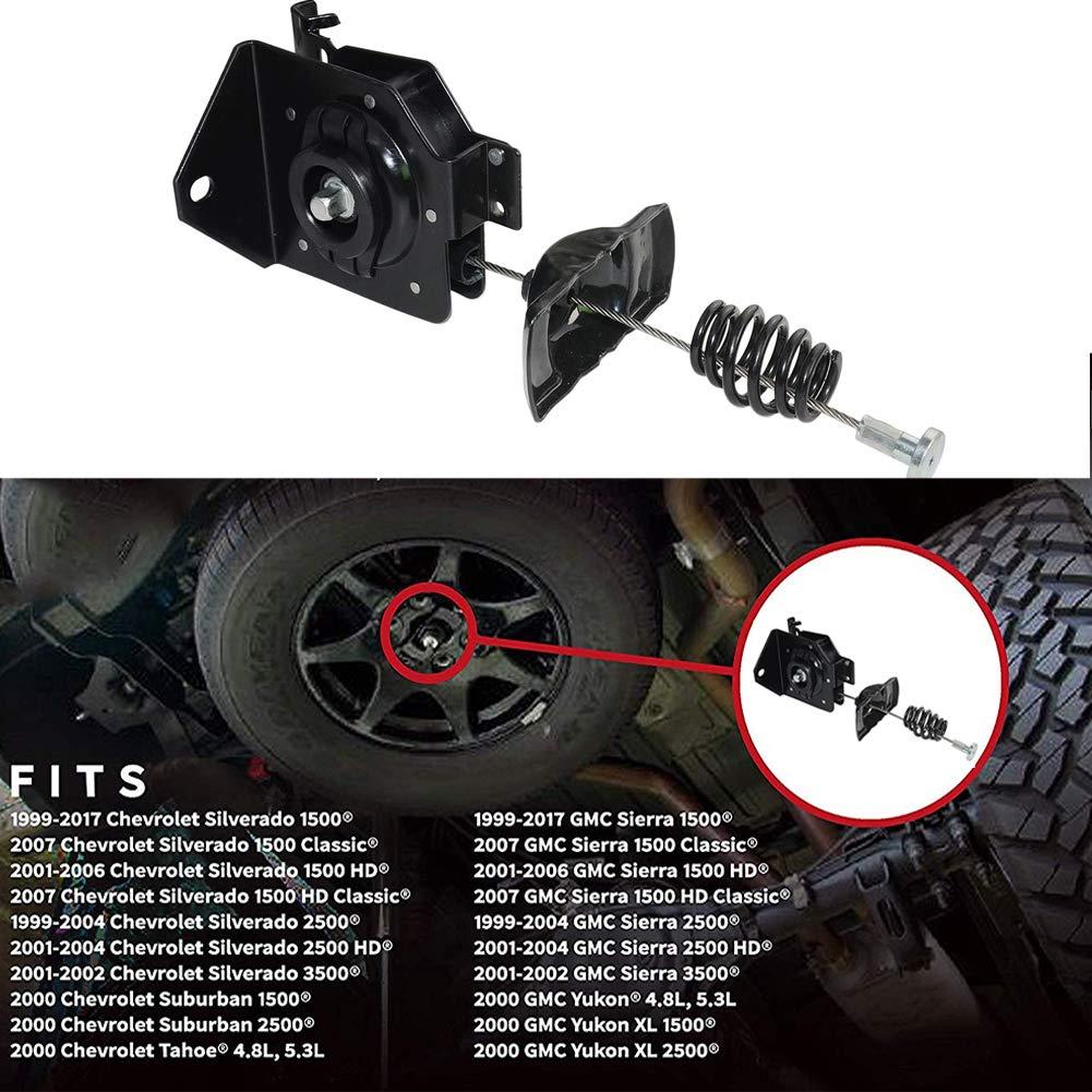Spare Tire Hoist,Tyre Winch Carrier Spare Tire Carrier Hoist Assembly Replaces 20870067 15703311 924-510 15866164 Fits 1999-2017 Chevy Silverado 1500 GMC Sierra 1500 1999-2004 Silverado 2500 2000 Ta
