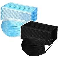 Damonday Protección 3 Capas con Elástico para Los Oídos Pack 50/100/200 unidades Adulto Combinación Negro y Azul…
