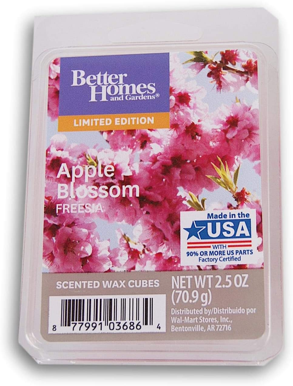 Better Homes & Gardens Apple Blossom Freesia 2019 Edition Wax Cubes