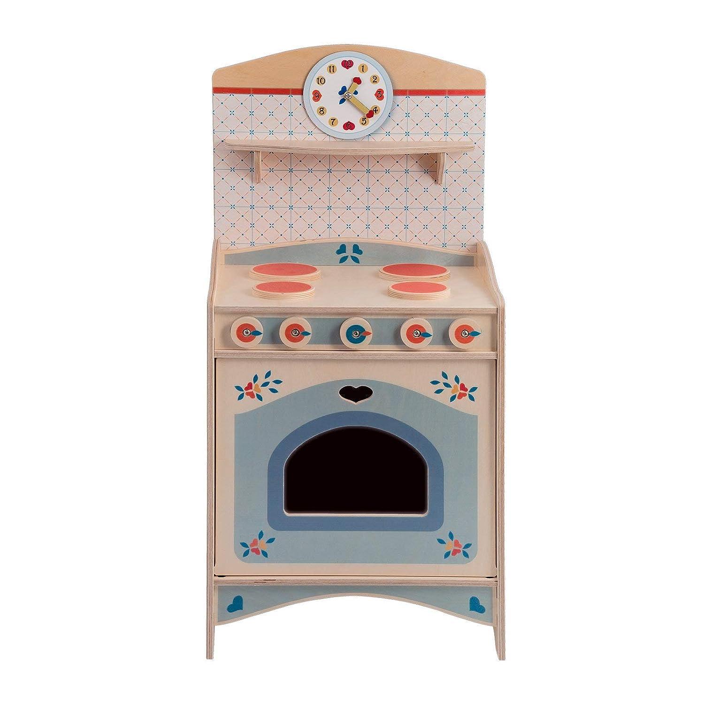 DIDA - Spielküche, Küchenmöbel, Teil der zusammensetzbaren Küche aus Holz für Kinder, komplette Höhe 77 cm,Höhe bis zur Arbeitsfläche 46 cm, auch einzeln verkaufbar.