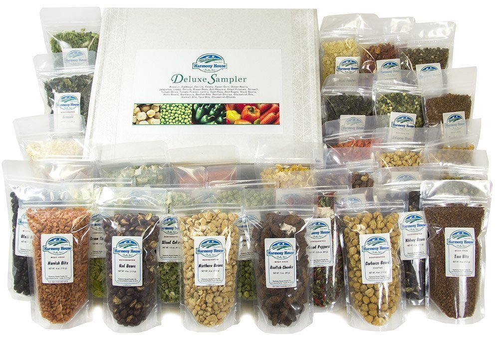 Harmony House Foods Deluxe Sampler (30 Count, ZIP Pouches) - Set of 2