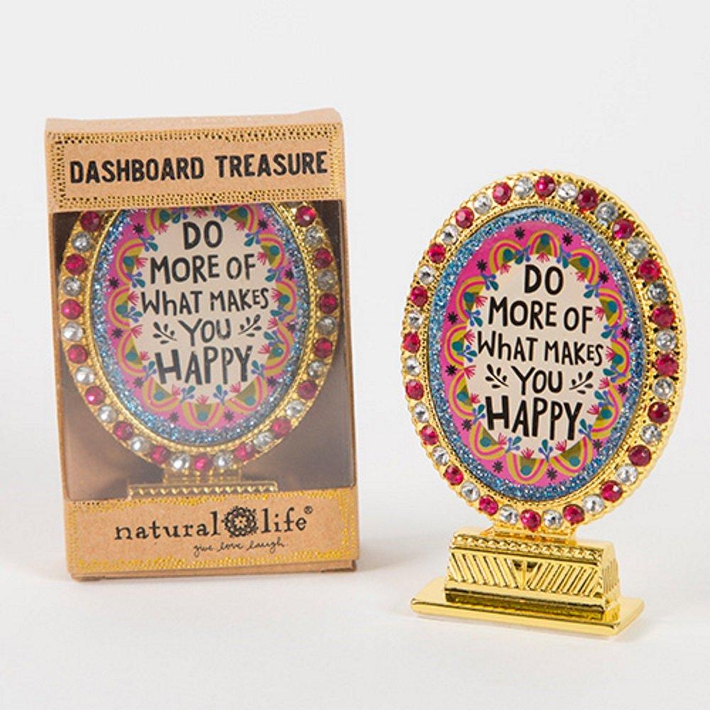 Natural Life May ''Do More of What Makes You Happy '' Car Dashboard Treasure
