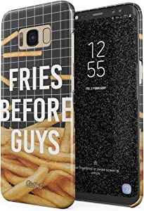 Glitbit Compatible with Samsung Galaxy S8 Plus Case French Fries Before Guys Pattern Skinny Chips Fast Junk Food Pizza Thin Design Durable Hard Shell Plastic Protective Case Cover
