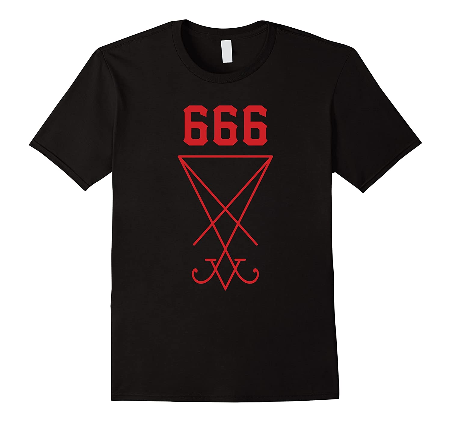 666 - Satanic Symbol T-Shirt (Sign of the Devil)-mt