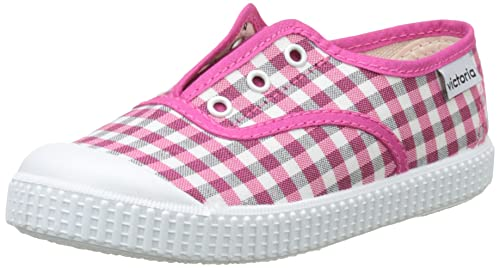 Victoria Inglés Elástico Vichy, Zapatillas Unisex Niños, Rosa (Fresa), 26 EU: Amazon.es: Zapatos y complementos