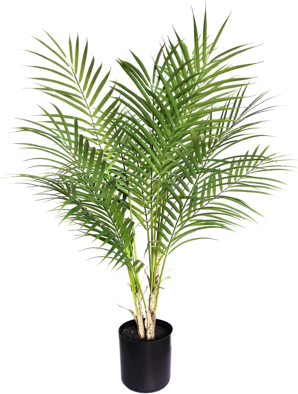 BESAMENATURE Artificial Paradise Palm Tree Plant, Indoor Artificial Mini Palm Tree, 30 inches Tall, Green