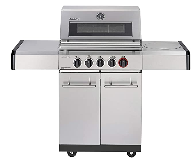 Enders BBQ Parrilla de gas Kansas Pro 3 Sik Turbo, sistema ...