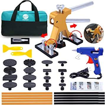 Dent Puller Kit Auto Body Paintless Dent Remover Tools Kits 70 Pcs Car Hail Damage and Door Dings DIY Repair