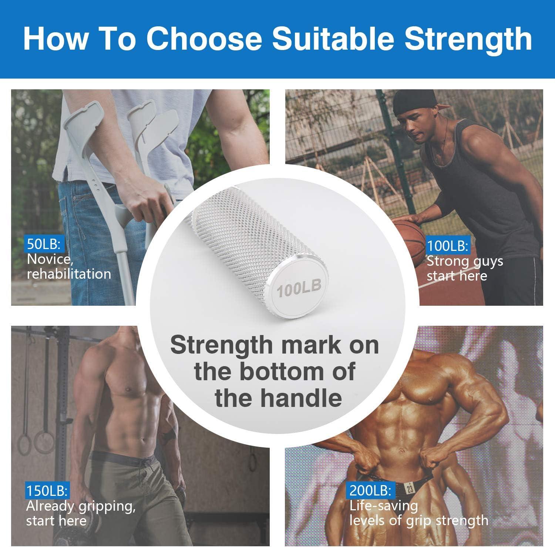 Poign/ée de Musculation MoKo Muscleurs de Main en M/étal Pince de Musculation dexercice du Doigt la Force Avant-Bras pour R/é/éducation Poign/ée ou Renforcer Les Muscles