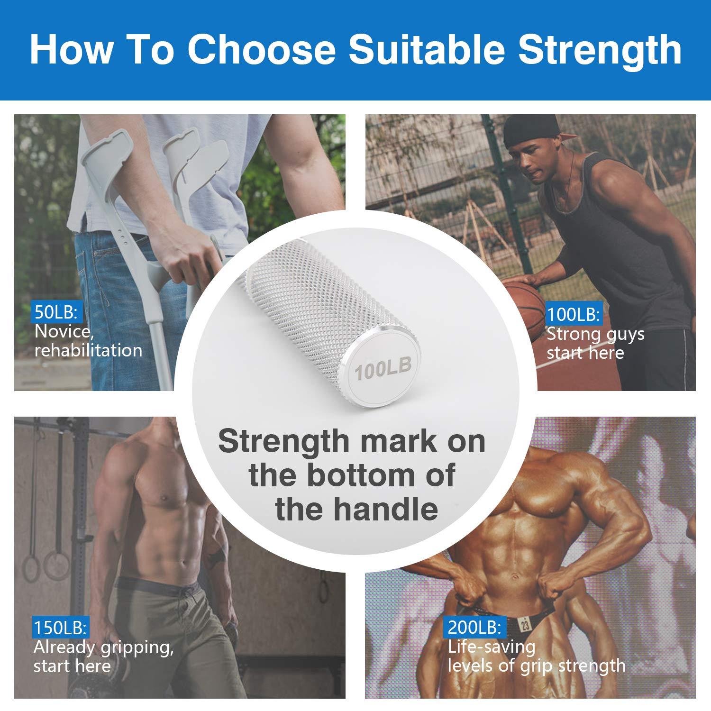 MoKo Pinza para Entrenamiento de Manos Ejercitador de Mano Dedos de Entrenamiento Pesas Mano Muscular Ejercitador Entrenamiento Fortalecedor de Agarre de Mano de Metal