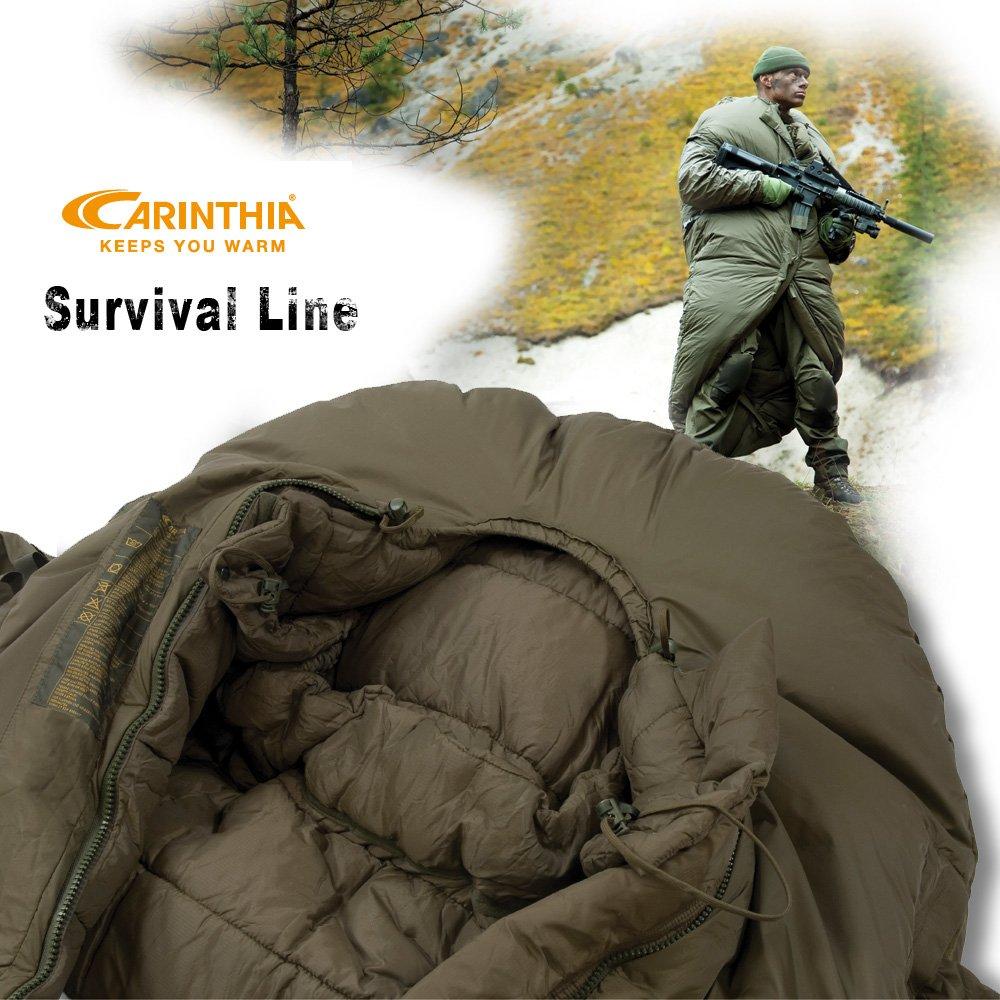 Carinthia supervivencia Militar saco de dormir de alta One Armausgriffe con - 25 °C: Amazon.es: Deportes y aire libre