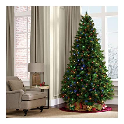 Amazon Com 7ft Pre Lit Tall Christmas Tree Pine 350 Led Multicolor