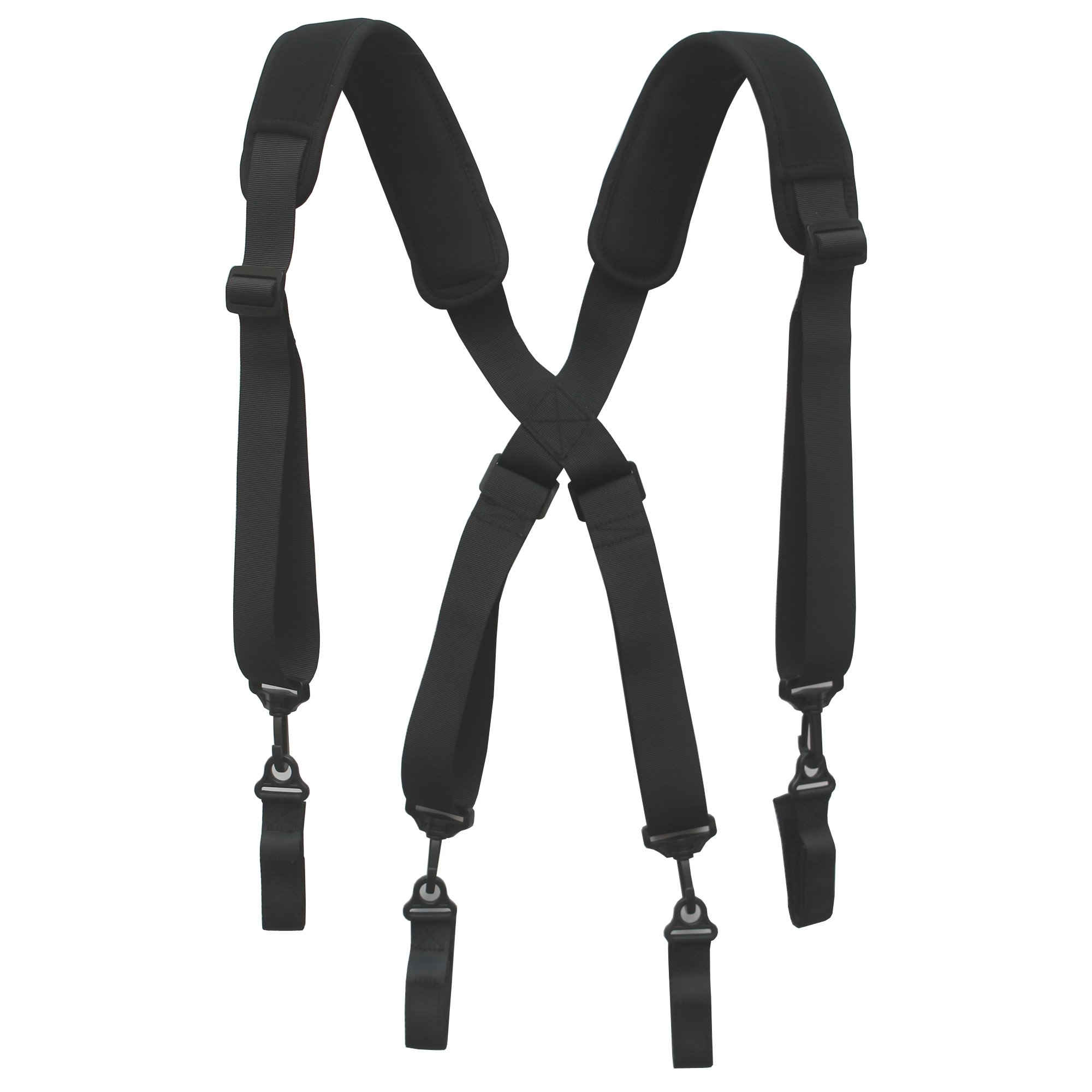 YYST Tool Belt Suspender Duty Belt Suspender Tool Harness with Neoprene Comfortable Pad - 4 Loop Attachments by YYST