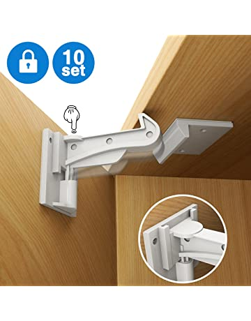Baby Locks & Latches Clippasafe Mini Multi-purpose Cupboard Drawer Latches Locks X 2 Baby Proofing Baby Proofing