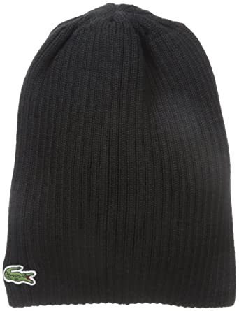 8e08914ae5b Lacoste Men s Classic Wool Ribbed Knit Beanie
