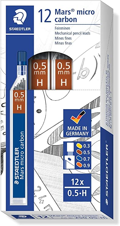 durezza: H 2 tubi da 12 Staedtler Mars Micro 24-Portamine tratto: 0,3 mm