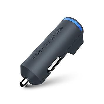 Energy Sistem - Cargador de Coche Dual, USB 3.1 A (3100mAh, Universal, Smartphone, Tablet), Color Gris