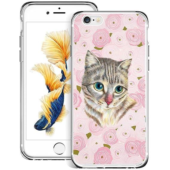 new product 81d56 cc5aa Amazon.com: Retro Case Cute Kitten Cat for iPhone 6s Plus 6 Plus ...