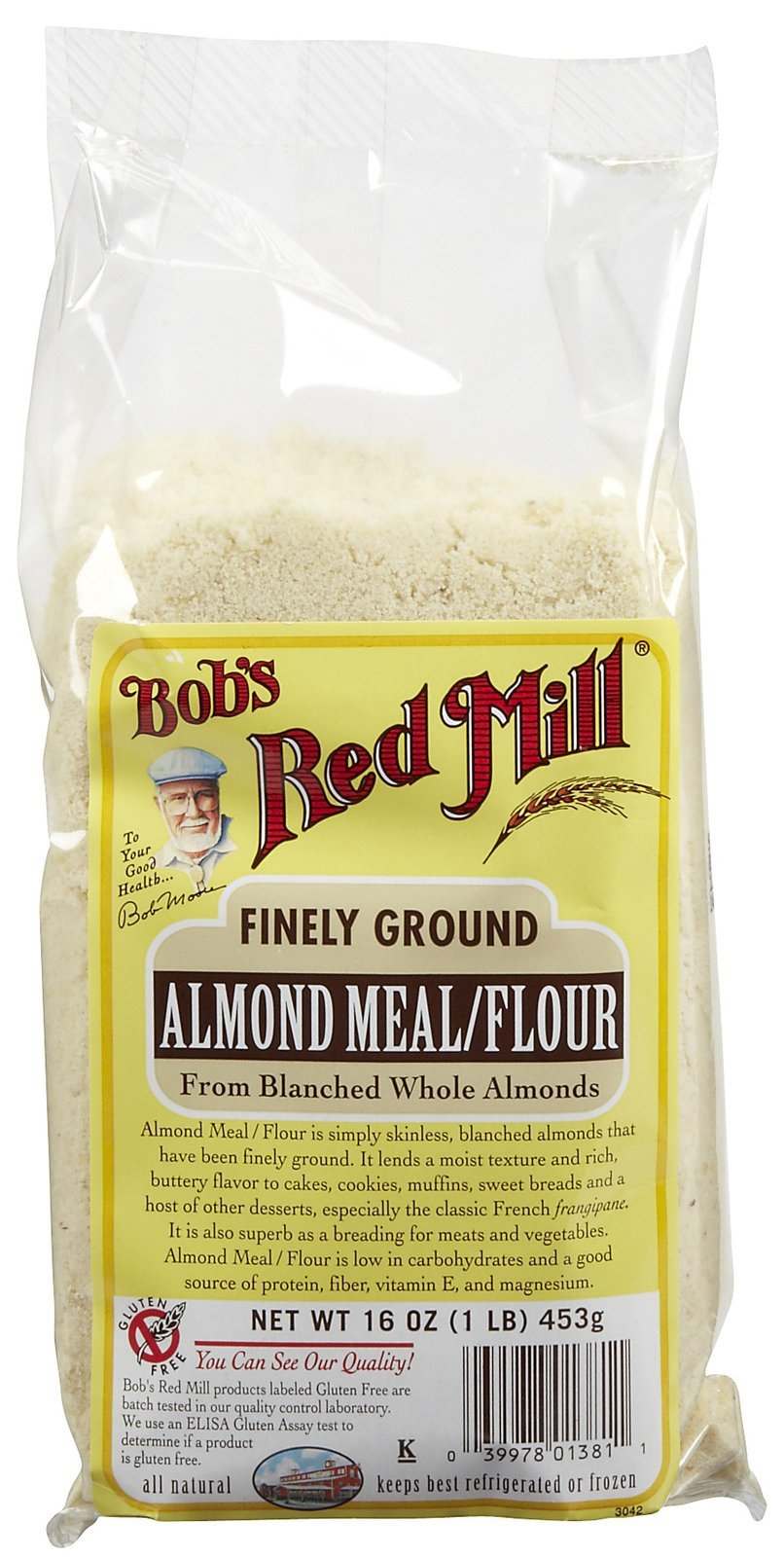 Bob's Red Mill Almond Meal/Flour, 16-Ounce Packages (Pack of 4) (Value Bulk Multi-pack)