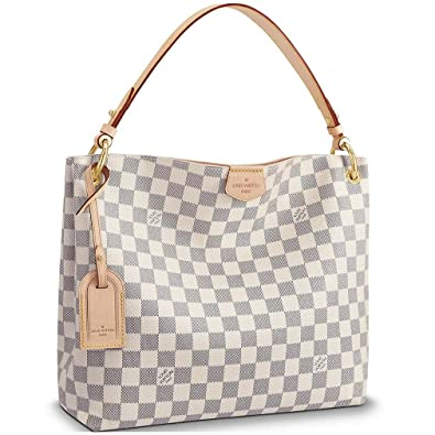 5578c3f03f0 Amazon.com: Louis Vuitton Damier Azur Canvas Graceful PM Shoulder Handbag  Rose Balleria Article: N42249: Shoes