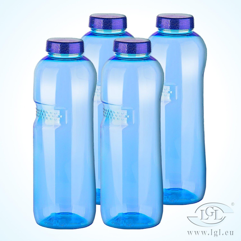Sanquell bouteilles d'eau stables et de haute qualité en tritan, sans bisphénol a (bPa) avec verschlußdeckel - 4 x 1 l-paket 03 sans bisphénol a (bPa) avec verschlußdeckel - 4 x 1 l-paket 03