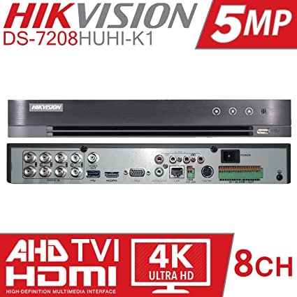 Hikvision 5MP Turbo HD 8Channel Metal DVR Series (Model-DS-7B08HUHI-K1)  Upto 5MP Support