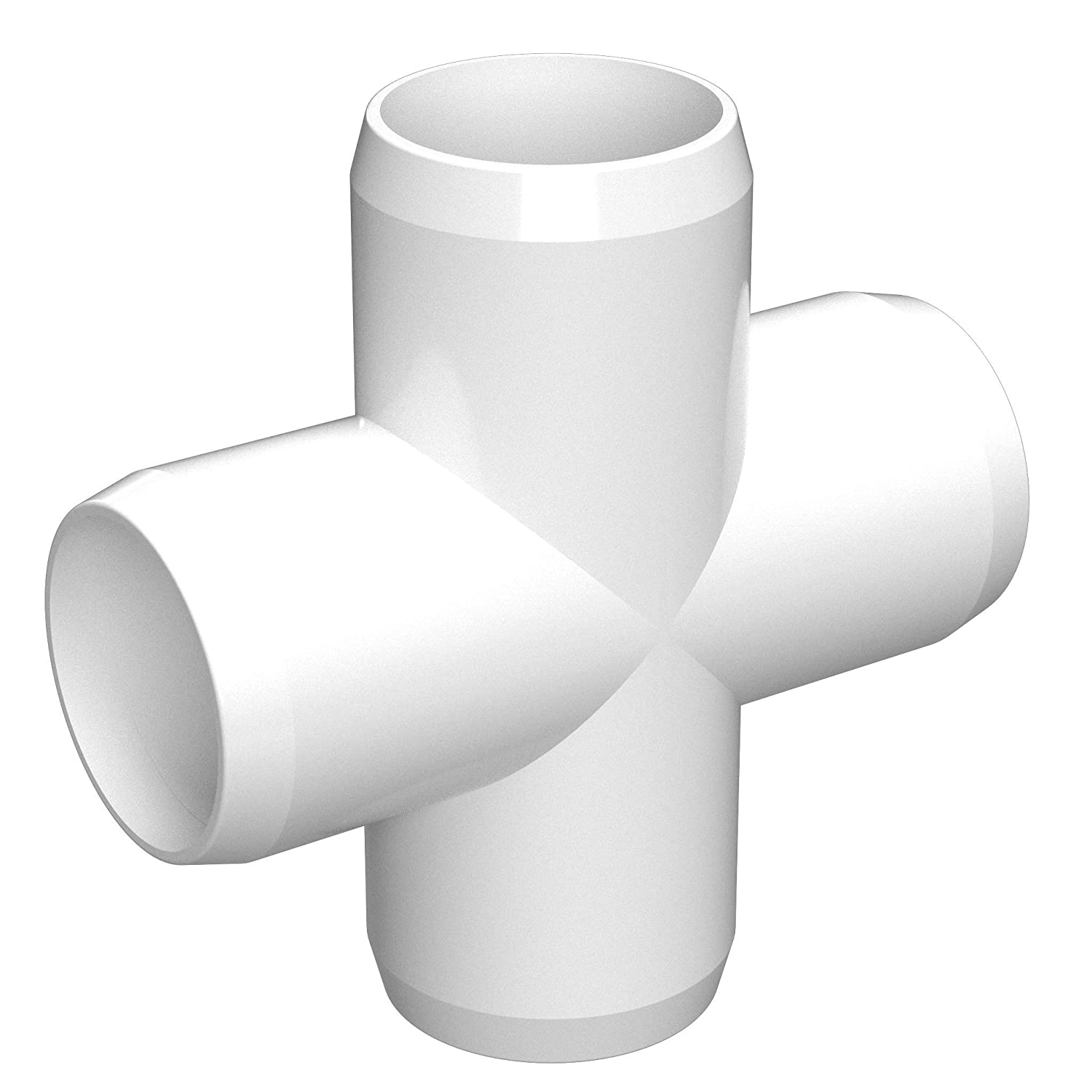 Green Furniture Grade 1-1//4 Size FORMUFIT F114CRX-GR-4 Cross PVC Fitting Pack of 4