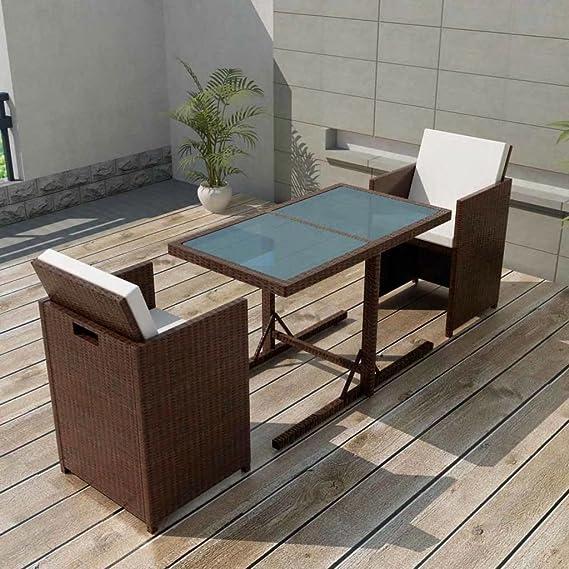 Tidyard Conjunto Muebles de Jardín de Ratán 7 Piezas Sofa Jardin ...