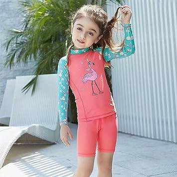 9699b909bc756 IvyH Girls Swimsuit Swimwear - Kids Two-Piece Swimwear Long Sleeves Wetsuit  Surfing Diving Suits Beachwear Swimming Costume UV Sun Protection UPF 50+   ...