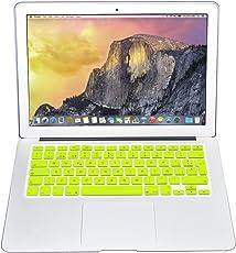 Protector Skin de Teclado para Macbook en Español compatible con: Macbook/Pro 13''/Pro 15''/Pro Retina 13''/Pro Retina 15''/Air 13'', Models: A1278/A1286/A1502/A1425/A1398/A1369/A1466 AMARILLO SOLIDO