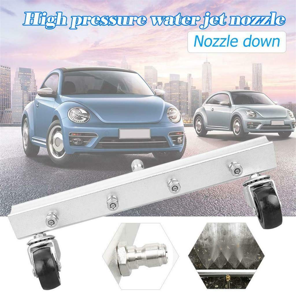 Automobile Power Washer, Alonea Automobile Chassis Cleaning and Road Cleaning Nozzle Water Broom Power Washer (As Shown)