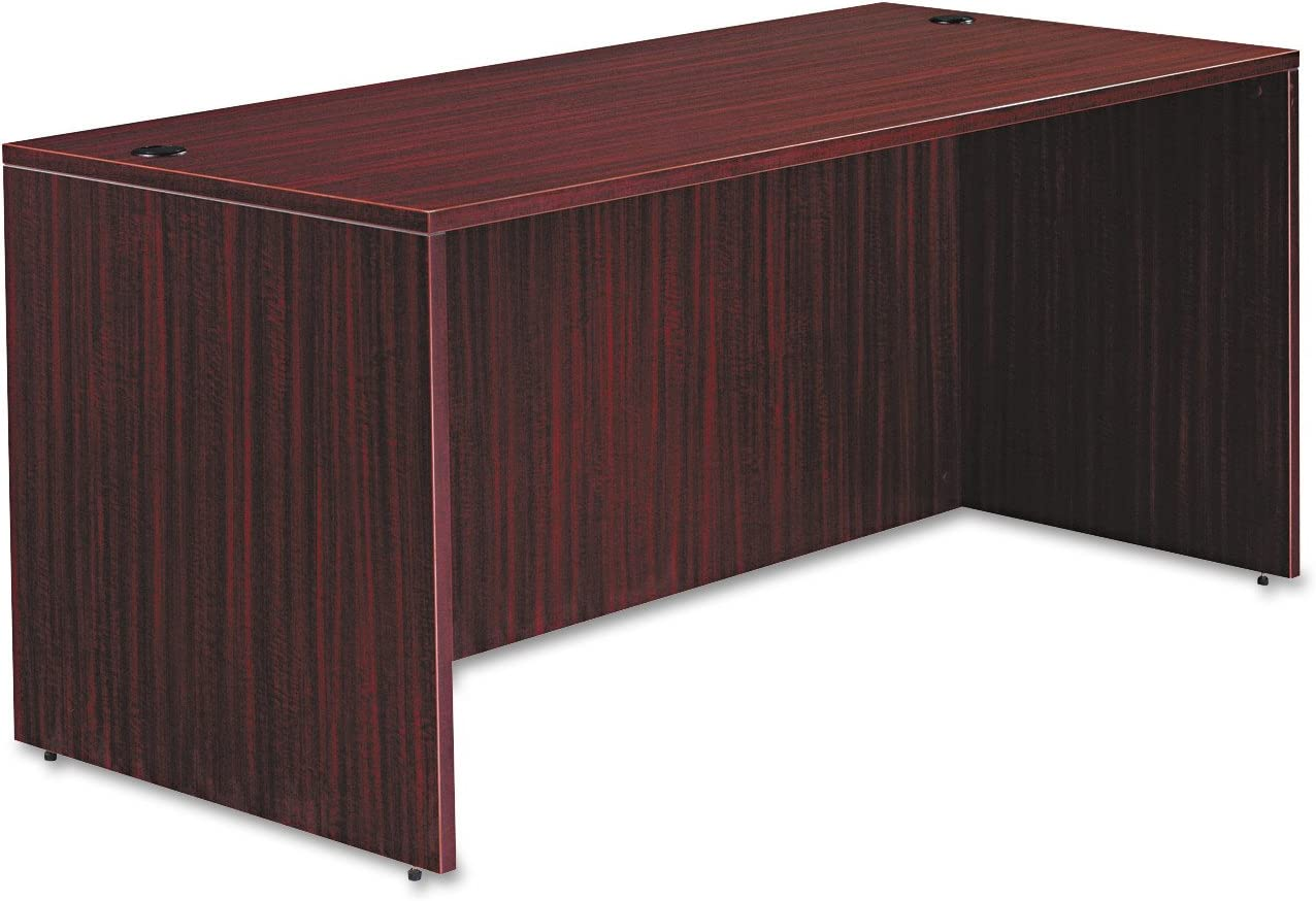 Alera VA216630MY Valencia Series 66 by 30 by 29-1/2-Inch Desk Shell, Mahogany