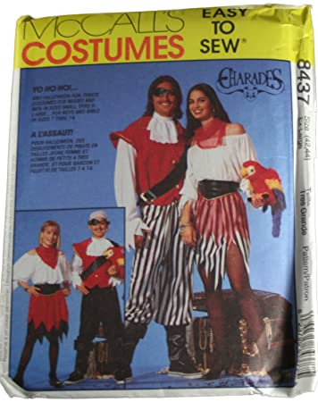 8437 McCalls Sewing Pattern UNCUT Adult Mens Misses Halloween Costume Pirate Sea Wench Size Extra Large  sc 1 st  Amazon.com & Amazon.com: 8437 McCalls Sewing Pattern UNCUT Adult Mens Misses ...