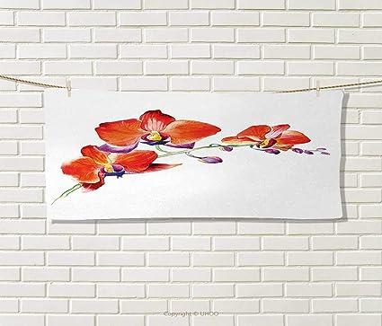 Anniutwo Floral, Toalla, Cebolla Flor Hojas Madre Naturaleza en otoño Arte Nouveau Invierno Cereza