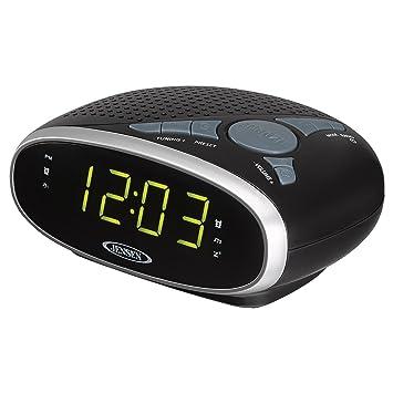 3dfa475208b Amazon.com  JENSEN JCR-175 AM FM Alarm Clock Radio with 0.9-Inch ...