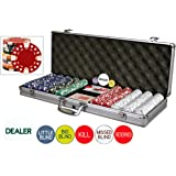 Da Vinci 500 Piece Executive 11.5 Gram Poker Chip Set w/Case & Cards
